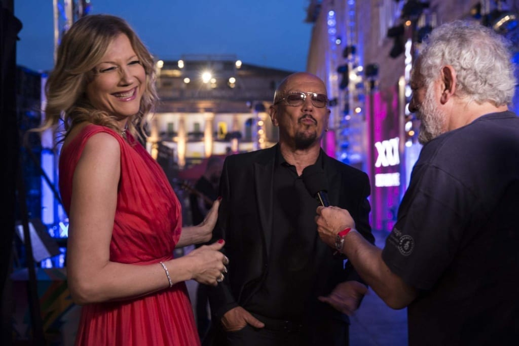 Natasha Stefanenko ed Enrico Ruggeri, presentatori di Musicultura 2019